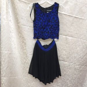 Primavera royal/black two piece dress size 4 NWT